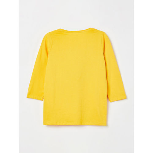 Fame Forever by Lifestyle Girls Yellow Solid Ruffle Top