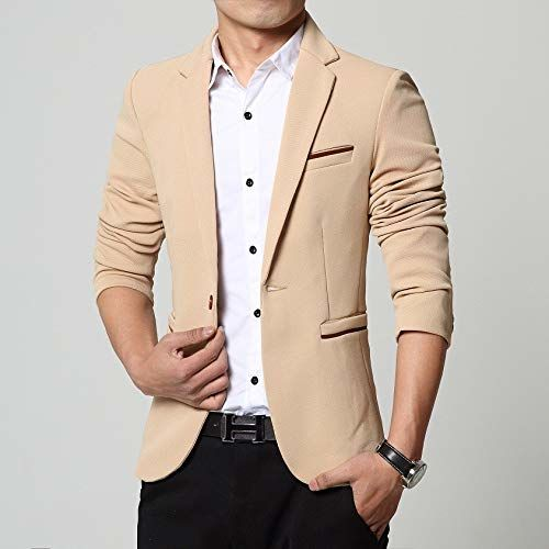 Menjestic Men's Cotton Formal Blazer
