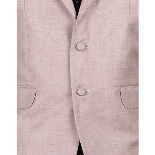 Shaftesbury London Mens Slim Fit Cotton Formal Blazer Single Breast Jacket(Beige,Parent)