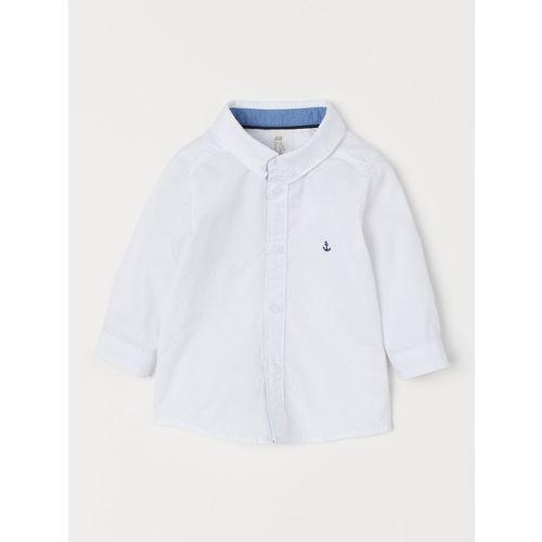 H&M Boys White Cotton Shirt
