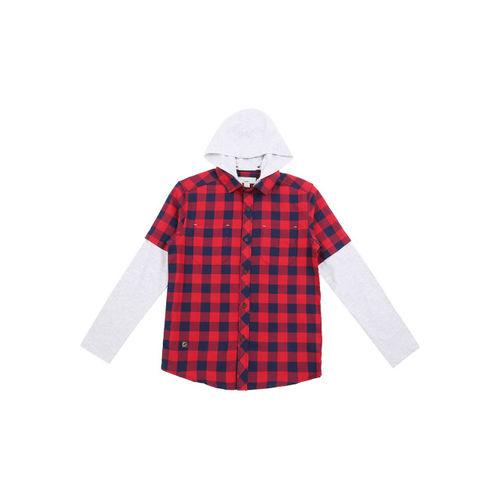 Pantaloons Junior Boys Checked Red Shirt