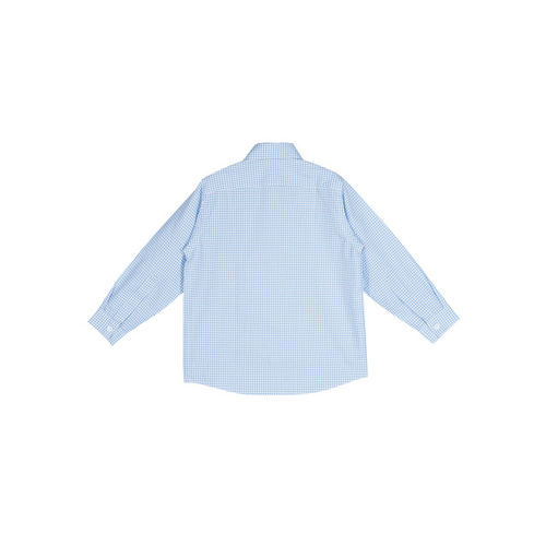 oui oui Boys Blue & Off-White Regular Fit Checked Casual Shirt