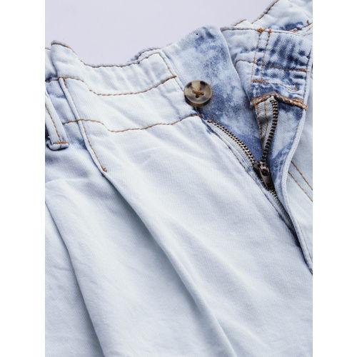 FOREVER 21 Women Blue Solid Regular Fit Denim Shorts