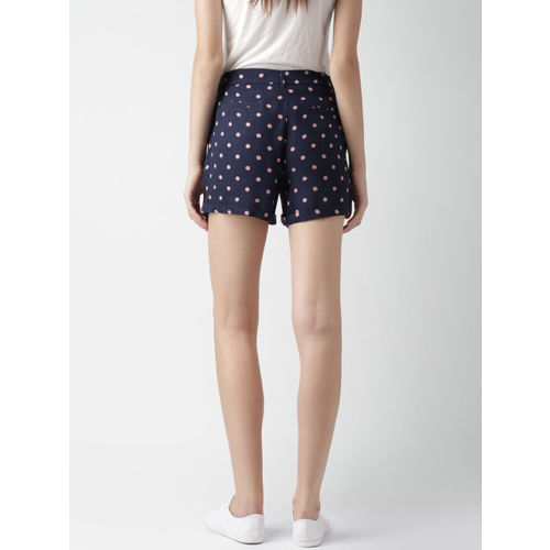 Mast & Harbour Women Navy Printed Shorts