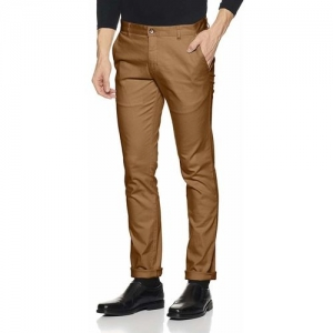 Ben Martin Regular Fit Men Beige Trousers