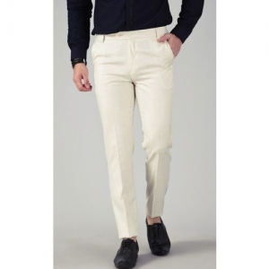 AD & AV Regular Fit Men Cream Trousers