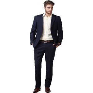 Hangup Single Breasted Solid Men Suit