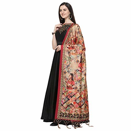 J B Fashion Women's Silk (Dupatta-03_Multicoloured_Free Size)