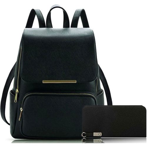 GulshanCollection Backpack +Clutch 12 L Backpack(Black)
