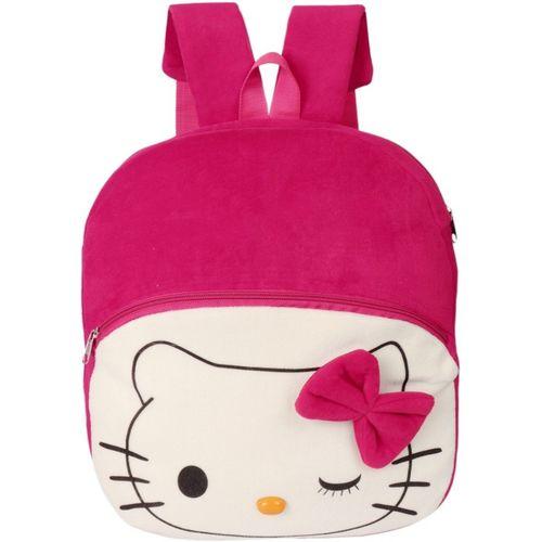 Lychee Bags Velvet Kids School/Nursery/Picnic 10 L Backpack(Pink)