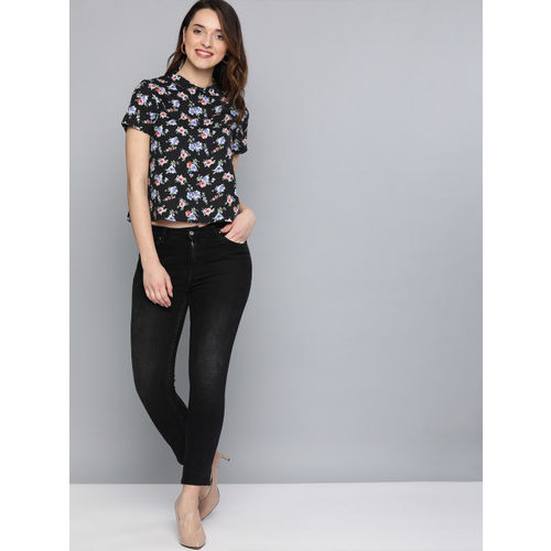 Mast & Harbour Women Black Printed Top
