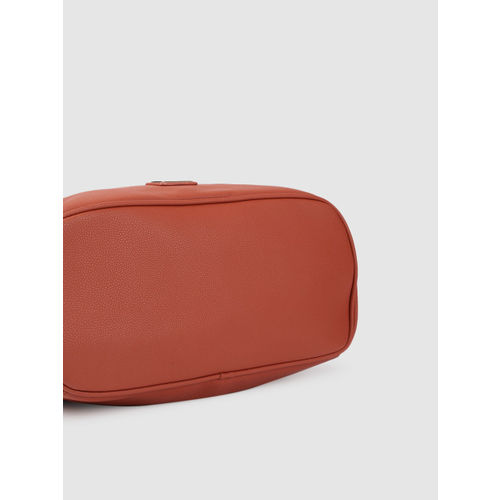 Caprese Rust Orange Textured Handheld Bag