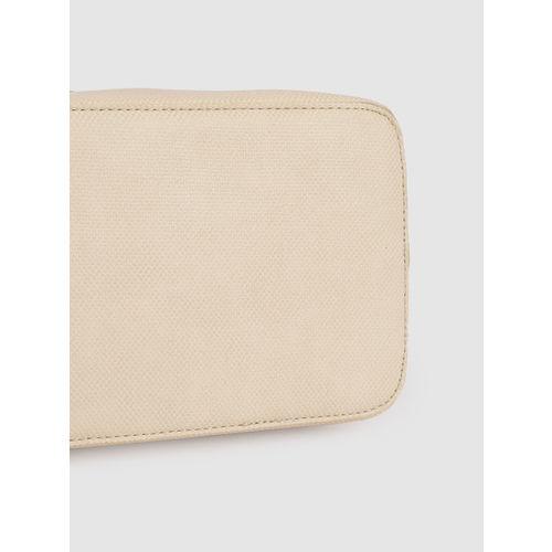 Caprese Off-White Textured Shoulder Bag