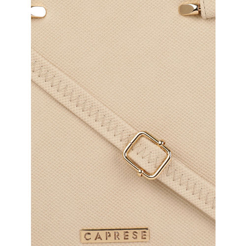 Caprese Off-White Solid Shoulder Bag