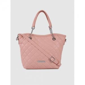 Caprese Pink Quilted Handheld Bag