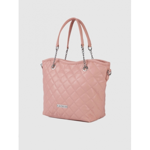 Caprese Pink Quilted Handheld Bag