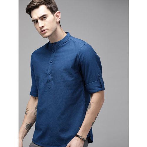 Roadster Men Blue Regular Fit Solid Casual Shirt