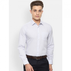 Van Heusen Men Blue & White Regular Fit Checked Casual Shirt