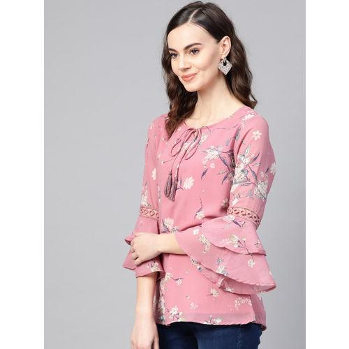 Azira Women Dusty Pink Floral Print Top