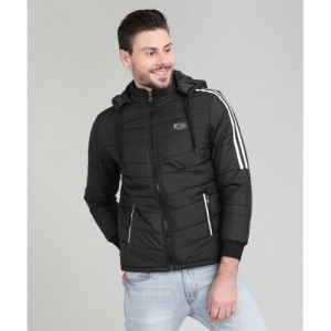 Fort Collins Black Polyester Solid Hooded  Jacket