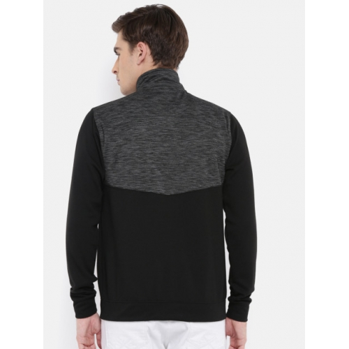 American Crew Black polyester casual Colourblocked Sporty Jacket