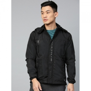 HRX by Hrithik Roshan  Black Solid Outdoor Hooded Sporty Jacket