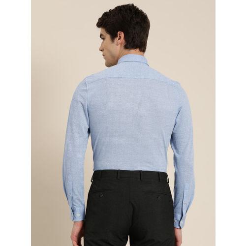 INVICTUS Men Blue Slim Fit Printed Semi-Formal Shirt