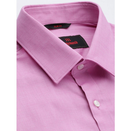 Raymond Men Pink Slim Fit Solid Formal Shirt