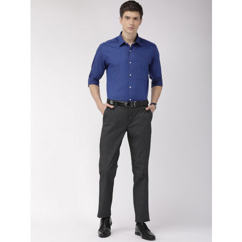 Raymond Men Blue Slim Fit Solid Formal Shirt