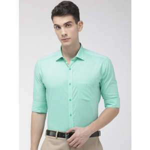 Park Avenue Men Sea Green Slim Fit Solid Formal Shirt