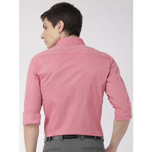Raymond Men Red Slim Fit Solid Formal Shirt