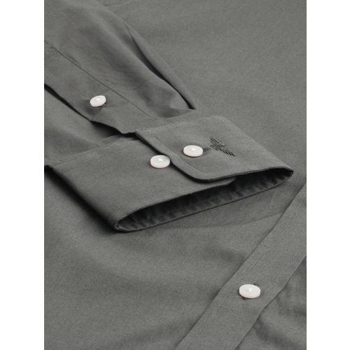 Park Avenue Men Grey Slim Fit Solid Formal Shirt