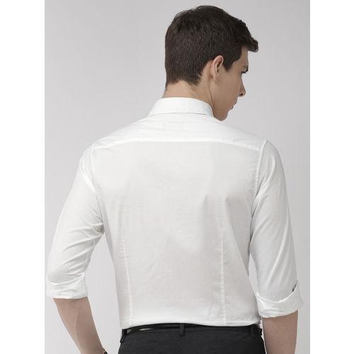 Raymond Men White Slim Fit Solid Formal Shirt