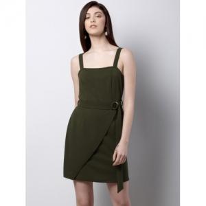 FabAlley Women Green Solid Sheath Dress
