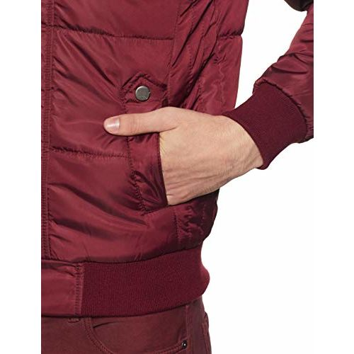 Qube By Fort Collins maroon nylon Jacket
