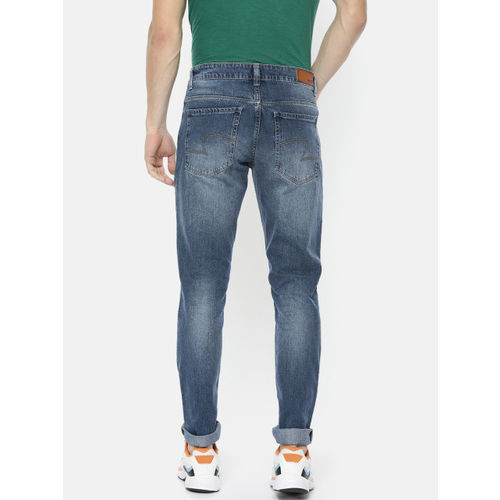 SPYKAR Men Blue Narrow Ultra Slim Fit Low-Rise Clean Look Stretchable Jeans