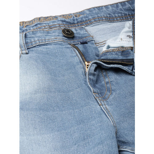 Roadster Men Blue Skinny Fit Mid-Rise Clean Look Stretchable Jeans