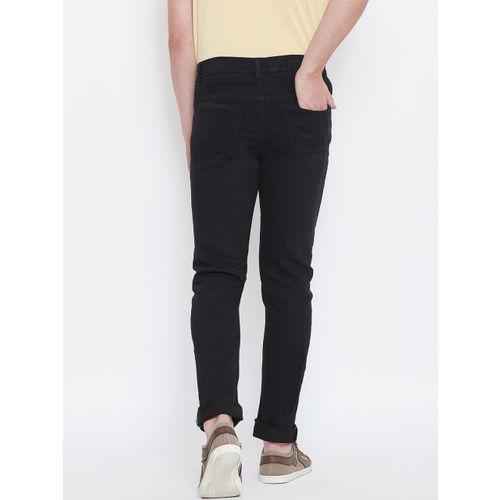 CHROME & CORAL Men Black Regular Fit Mid-Rise Clean Look Jeans