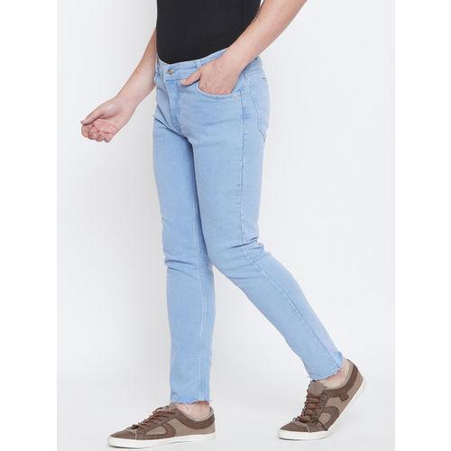 CHROME & CORAL Men Blue Regular Fit Mid-Rise Clean Look Jeans