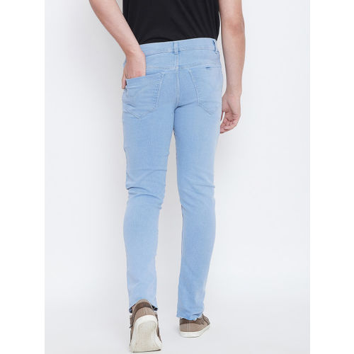 CHROME & CORAL Men Blue Regular Fit Mid-Rise Clean Look Jeans