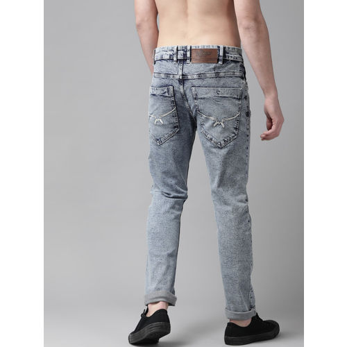 Roadster Men Blue Skinny Fit Mid-Rise Clean Look Acid Wash Stretchable Jeans