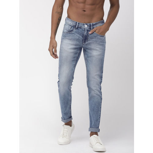 Flying Machine Men Blue Jackson Skinny Fit Mid-Rise Clean Look Stretchable Jeans