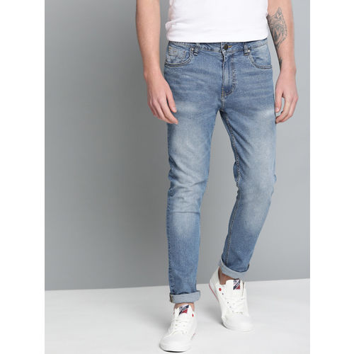 Mast & Harbour Men Blue Skinny Fit Mid-Rise Clean Look Stretchable Jeans