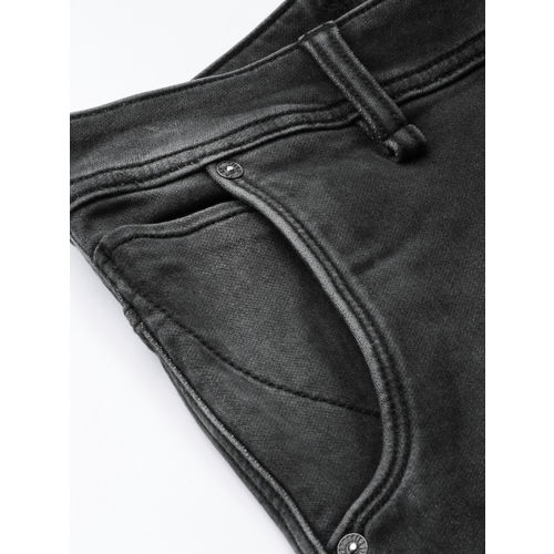 Roadster Men Black Mid-Rise Clean Look Stretchable Jogger Jeans