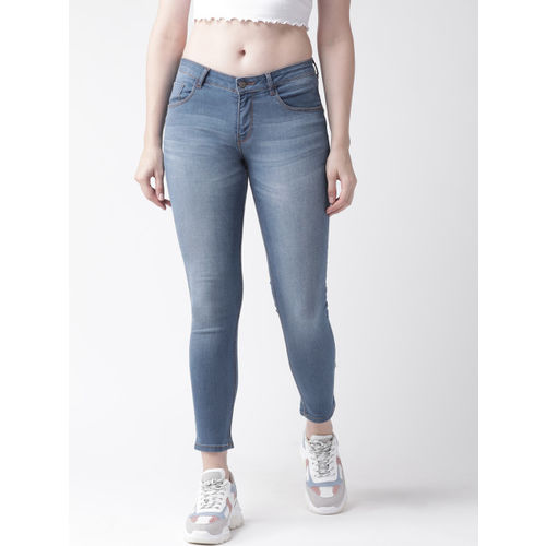 Flying Machine Women Blue Twiggy Super Skinny Fit Mid-Rise Clean Look Stretchable Jeans