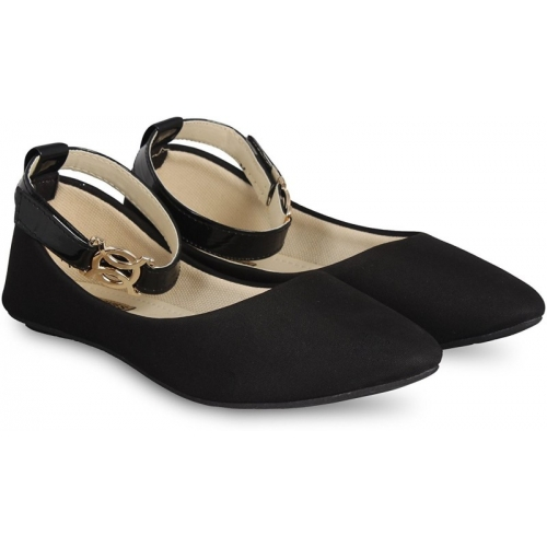 TOSHINA SHOES KING Black synthetic Bellies For Women