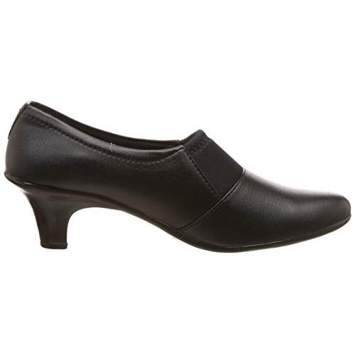 Footshez Black Synthetic Cone Heel Formal Shoes