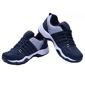 Chevit 445 Blue Synthetic Leather Sports Shoes