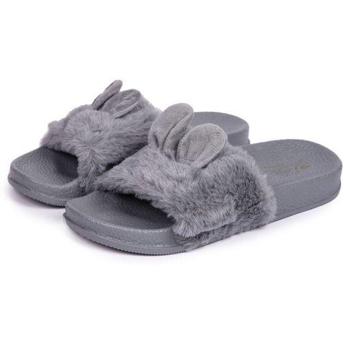 Brauch Grey Fur Bunny Sliders Slides