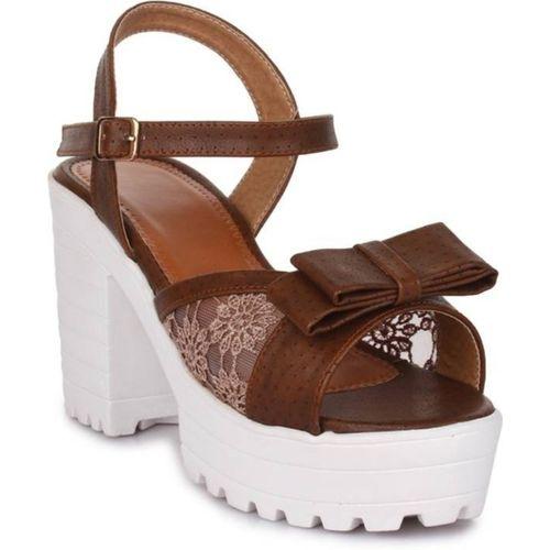 Shoe Cloud Women Brown Heels